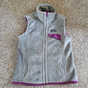 Patagonia Womens Small Gray & Purple Polartec Vest